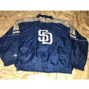 MLB San Diego Padres Majestic Jacket Sz XXL Used